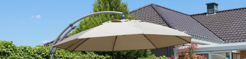 Parasols déportés grande taille – olefin / polyester – 375 cm
