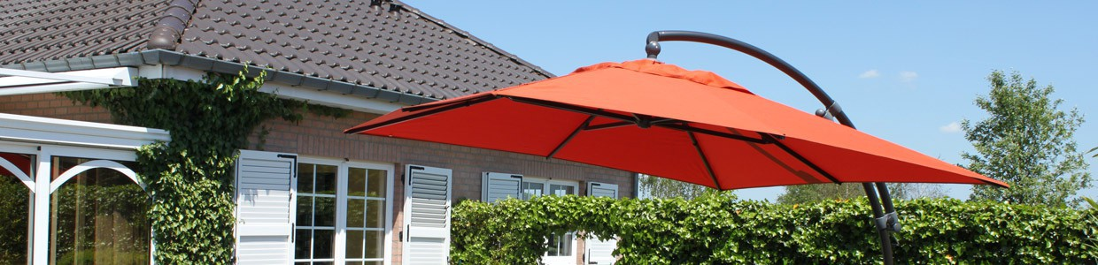 Swivelling square parasols - olefin / polyester - 3.20m