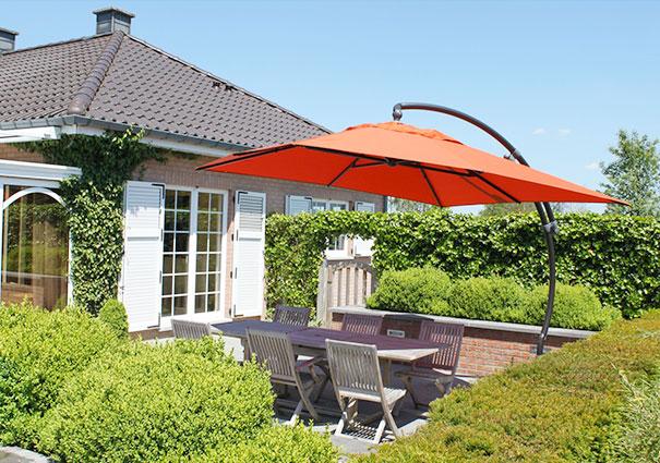 Toile de parasol déporté inclinable en Polyester